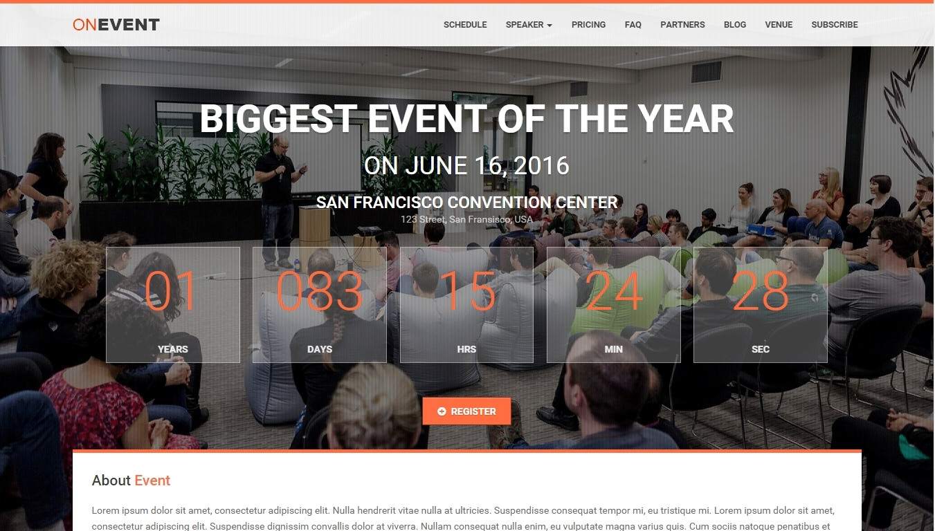 Conference and Event WordPress Themes