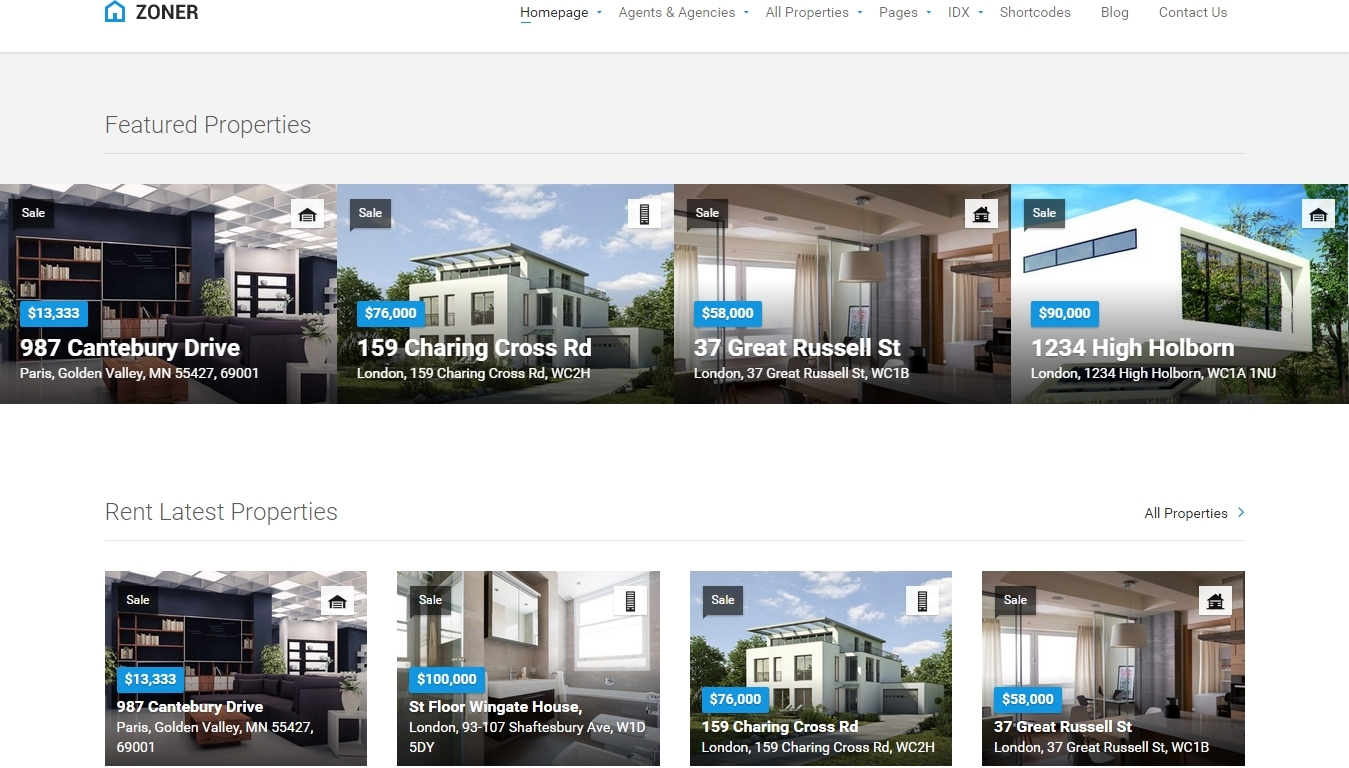 Modern Real Estate WordPress Themes