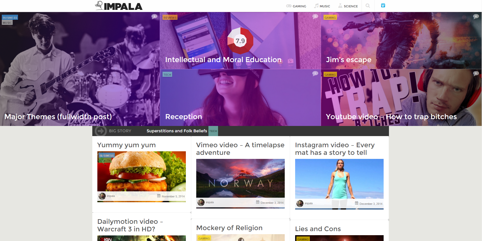 All Best Material Design WordPress Themes 2016