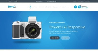 Electronics website templates of 2016
